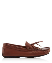 Carmen tan laced loafers