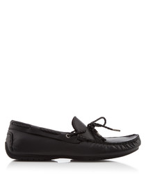 Carmen black laced loafers