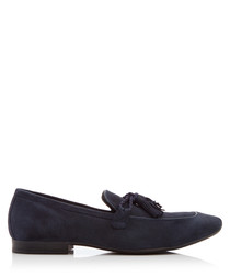 Antio navy tassel loafers