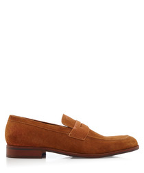 Ruling tan slip-on loafers