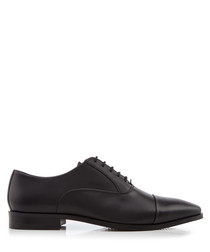 Reckless black leather Derby shoes