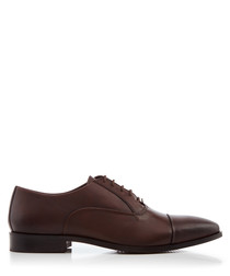 Reckless brown leather Derby shoes