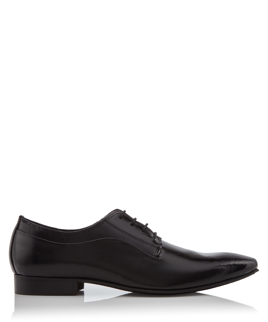 Rhymes black leather Derby shoes Sale - dune