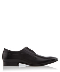 Rhymes black leather Derby shoes