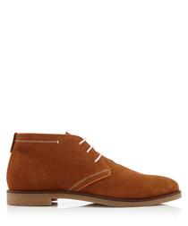 Viper tan suede desert boots