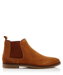 Fedele taupe brown suede boots