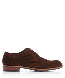 Radcliffe brown suede Derby shoes