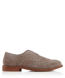 Bramption grey suede Derby shoes
