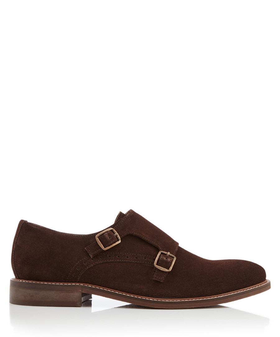 Parsons Green brown suede monk straps Sale - dune