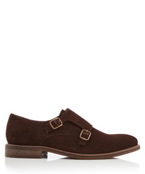 Parsons Green brown suede monk straps