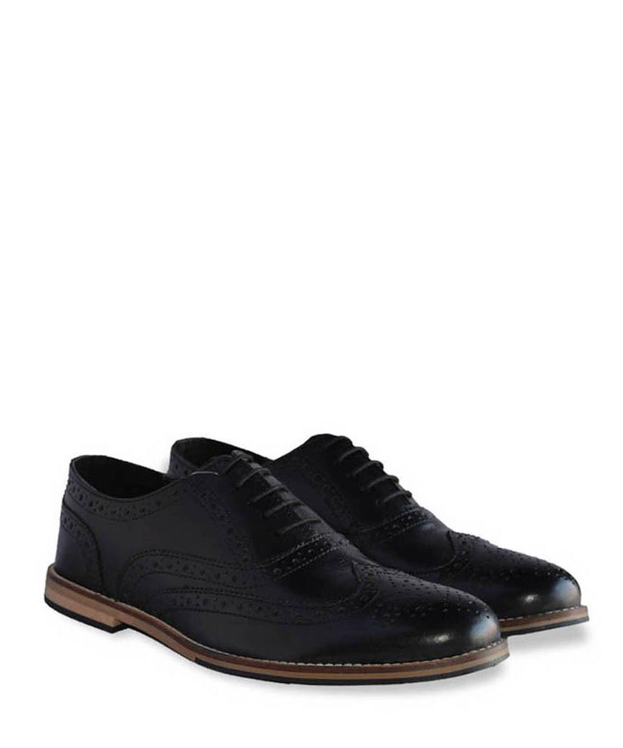 Westfield black leather brogues Sale - Lambretta