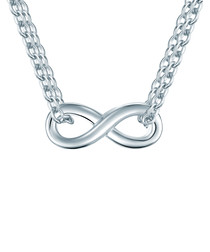 Silver-tone infinity necklace