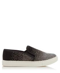 Jamie black studded slip-on sneakers