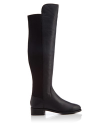 Pacific black leather two-tone boots