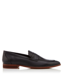 Newtown black leather loafers