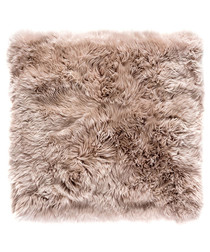Light brown sheepskin square rug