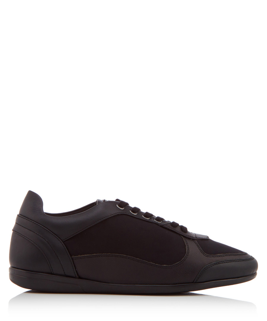 Men's black nappa leather sneakers Sale - versace collection