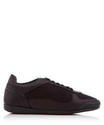 Men's black nappa leather sneakers