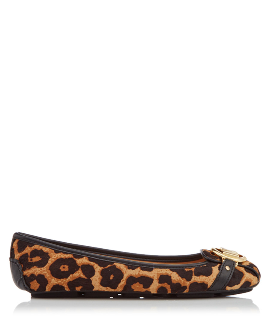 Fulton Moc natural leather printed flats Sale - michael kors