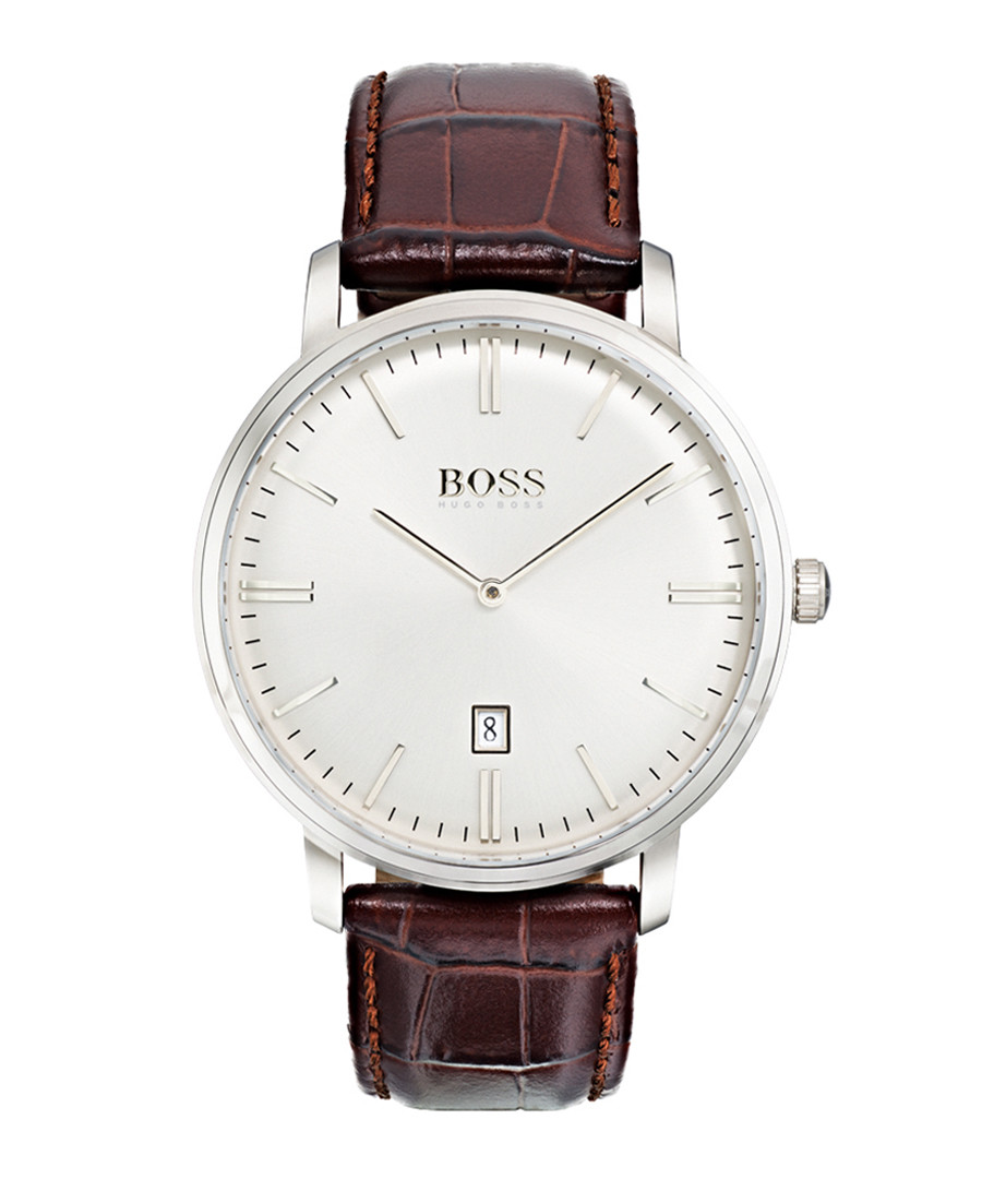 Tradition brown & silver-tone watch Sale - HUGO BOSS