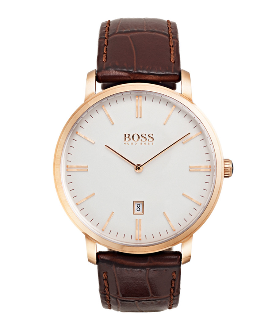 Tradition rose gold-tone steel watch Sale - hugo boss