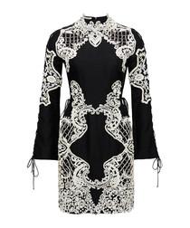 Mirage black cotton & silk blend dress
