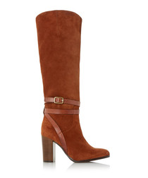 Sheena rust suede buckle boots