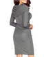 Dark grey fold-down midi dress Sale - bergamo Sale