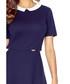 Navy & white collar short-sleeve dress Sale - bergamo Sale