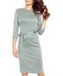 Grey belted knee-length dress Sale - bergamo Sale