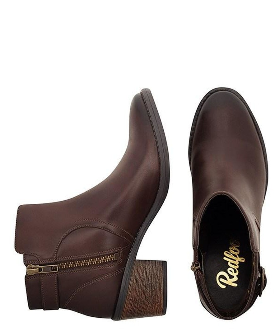 bfe645caec0 ... LADIES BROWN BUCKLE ANKLE BOOT Sale - REDFOOT ...