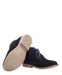MENS SHOEPRIMO BLACK DESERT BOOT (BLUE LACES)