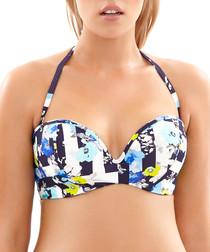 Suki multi-coloured floral bikini top