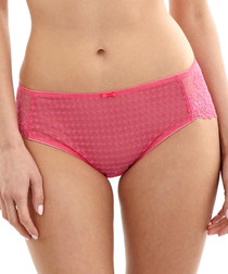 Envy bright pink lace detail briefs