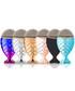 6pc multi-coloured make up brushes Sale - Mermaid Brushes Sale