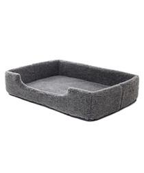 Grey merino wool pet bed 90cm