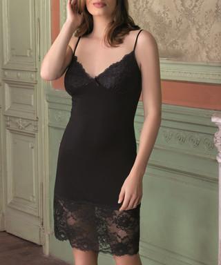 3c70a4659 Black lace panel night dress Sale - VANILLA Sale