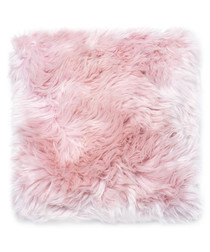 Heavenly pink sheepskin cushion 45cm