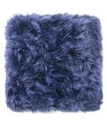Blue sheepskin cushion 45cm
