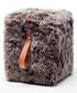 Taupe & brown sheepskin square pouf 45cm Sale - royal dream Sale