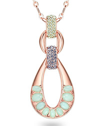 Rose gold-plated & crystal necklace