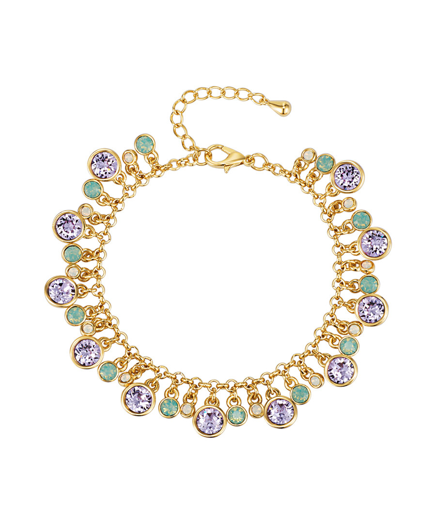 Gold-plated & crystal drop bracelet Sale - saint francis crystals