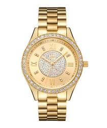 Mondrian gold-plated diamond watch