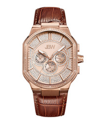 Orion 18k rose gold-plated watch