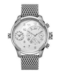 G3 World Traveler steel & diamond watch