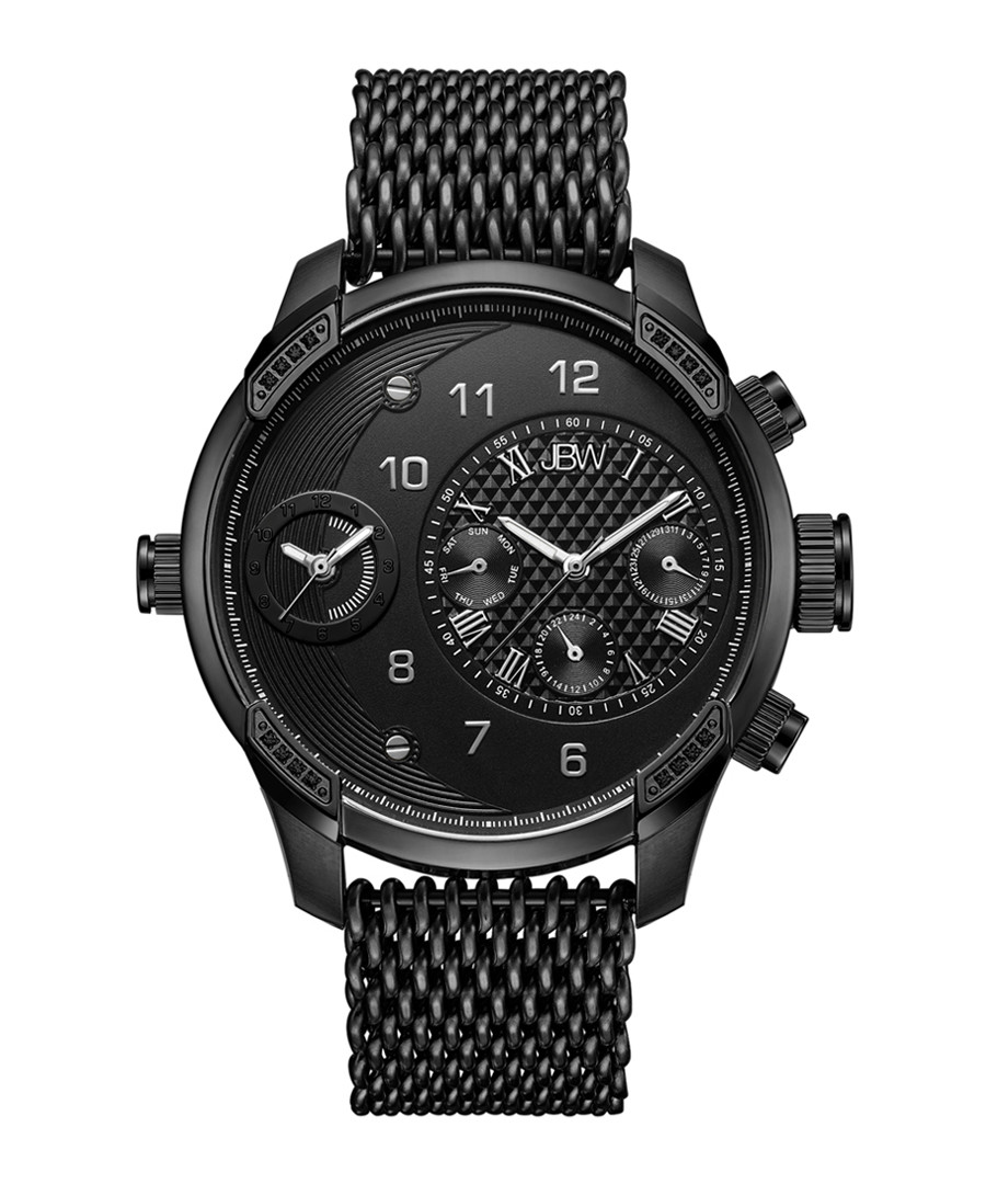 G3 World Traveler black diamond watch Sale - jbw