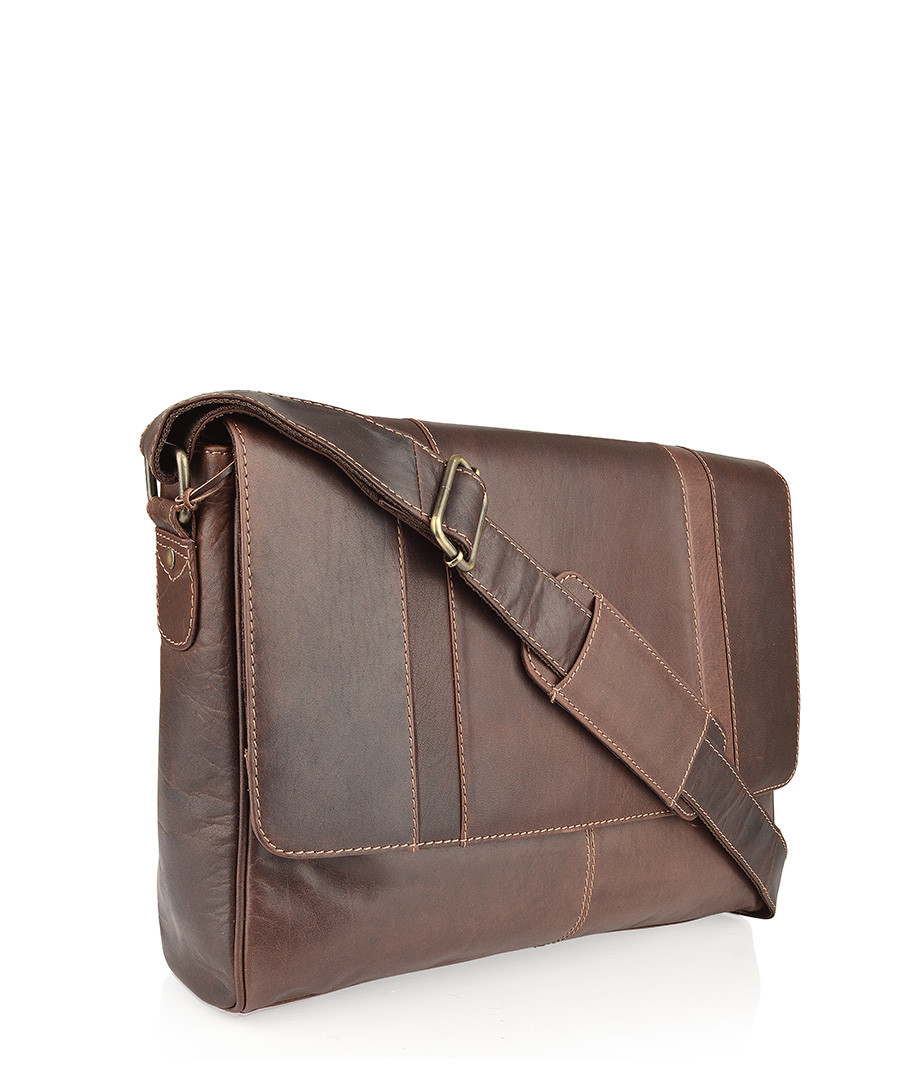 Brown leather messenger bag Sale - woodland leathers