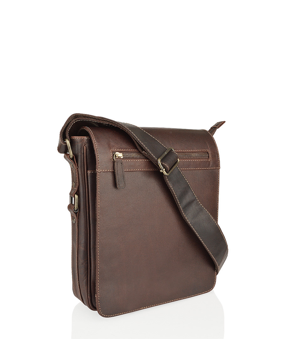 Brown leather messenger bag  Sale - woodland leathers