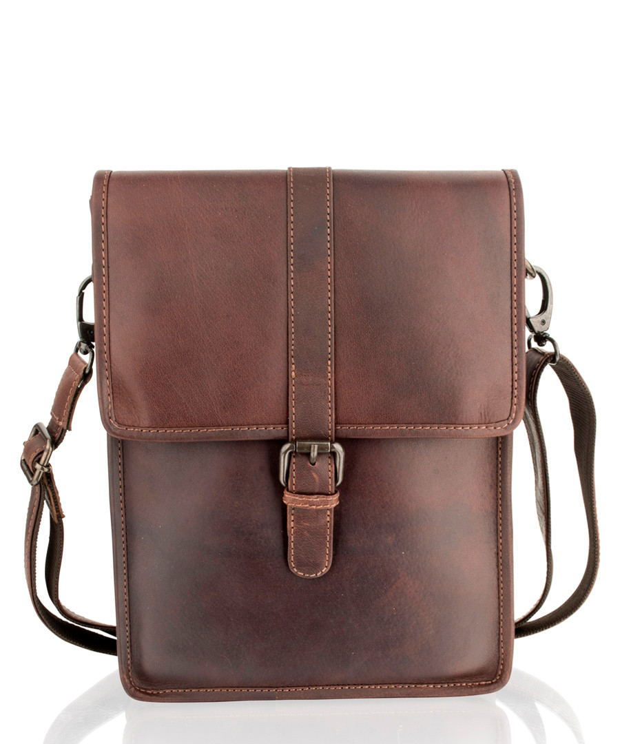 Brown leather buckle satchel  Sale - woodland leathers