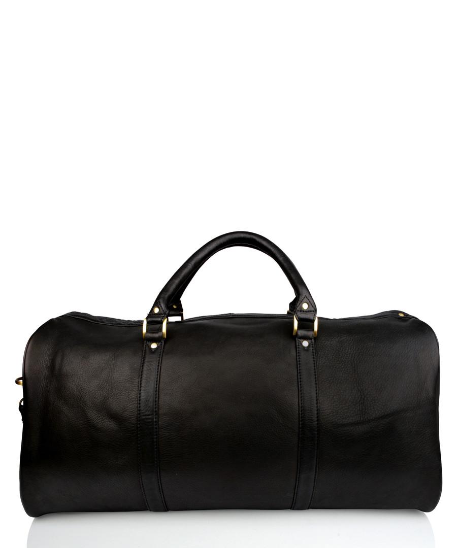 Black leather holdall Sale - woodland leathers